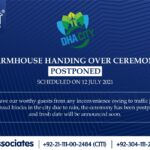 Farmhouse Handing Over Ceremony POSTPONED